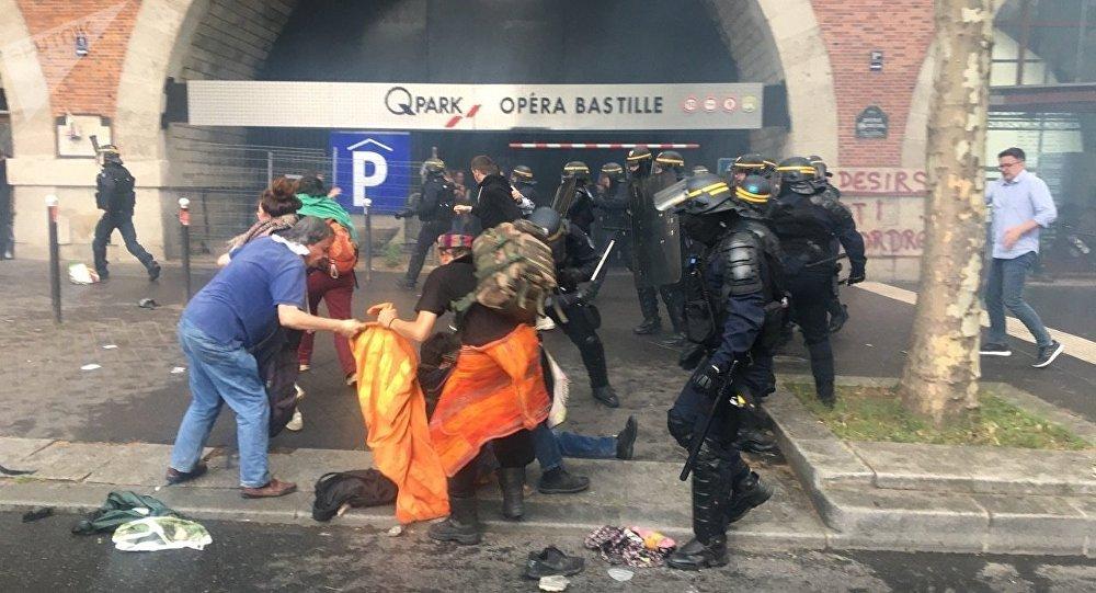 Les incidents mardi à Paris
