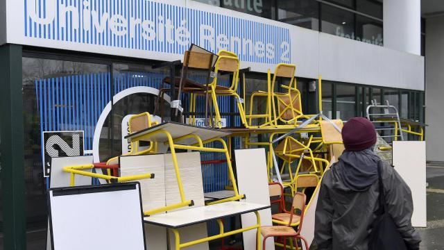 Le blocage à Rennes 2