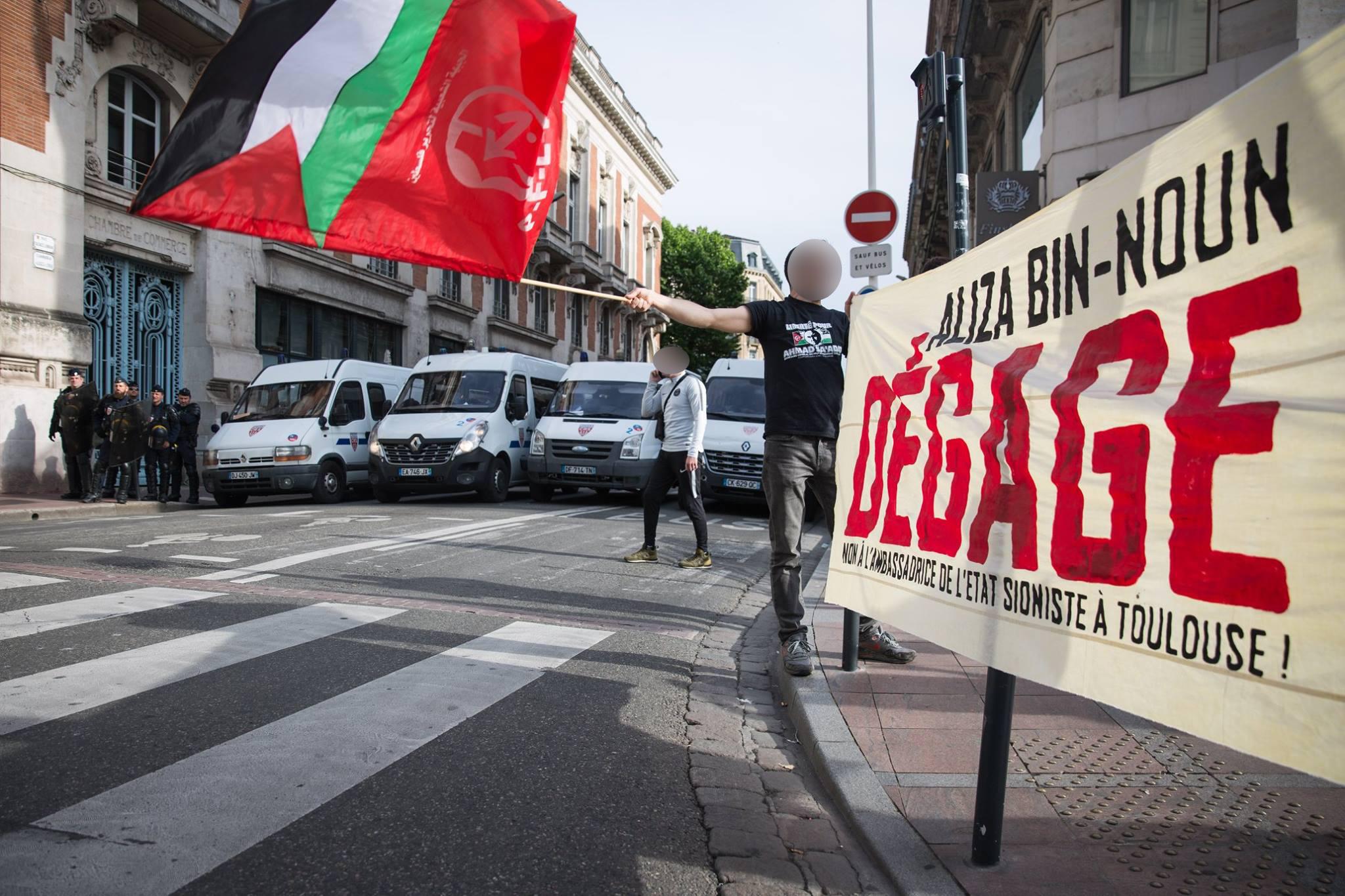 Rassemblement contre la venue d'Aliza Bin-Noun à Toulouse !