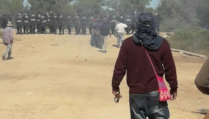 Face à face entre manifestants wichis et forces de sécurité