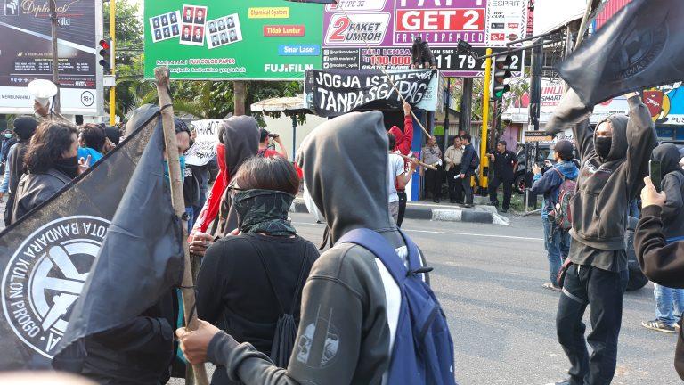 Manifestants à Jakarta