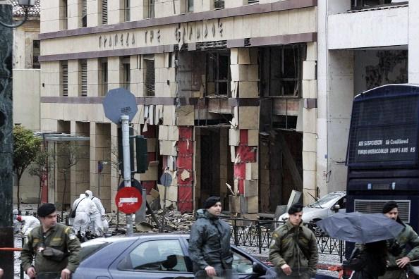 La Banque de Grèce après le passage de Lutte Révolutionnaire le 10 avril 2014