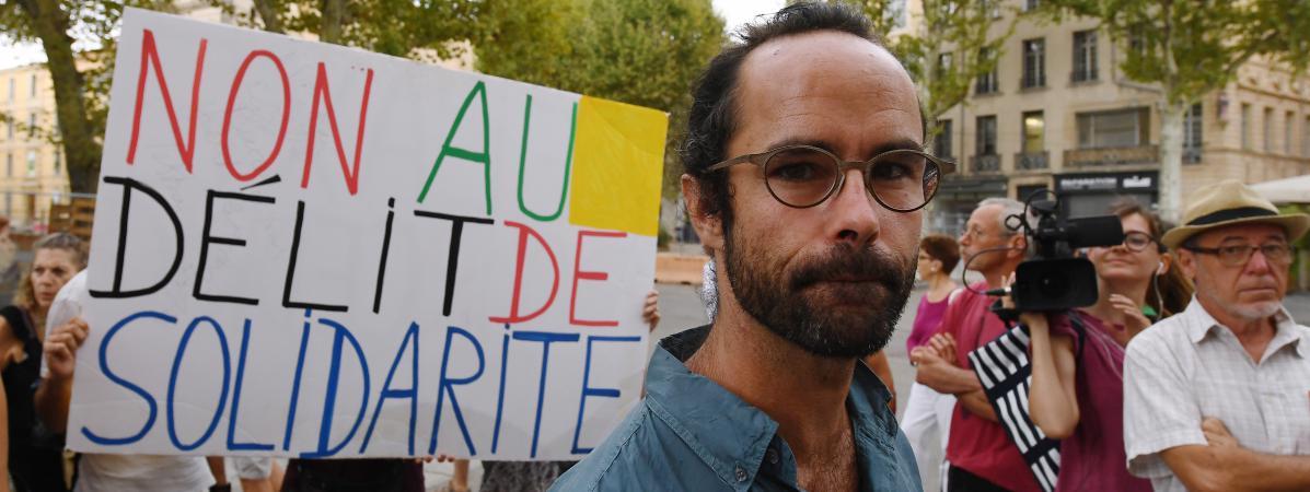 Cédric Herrou à son procès