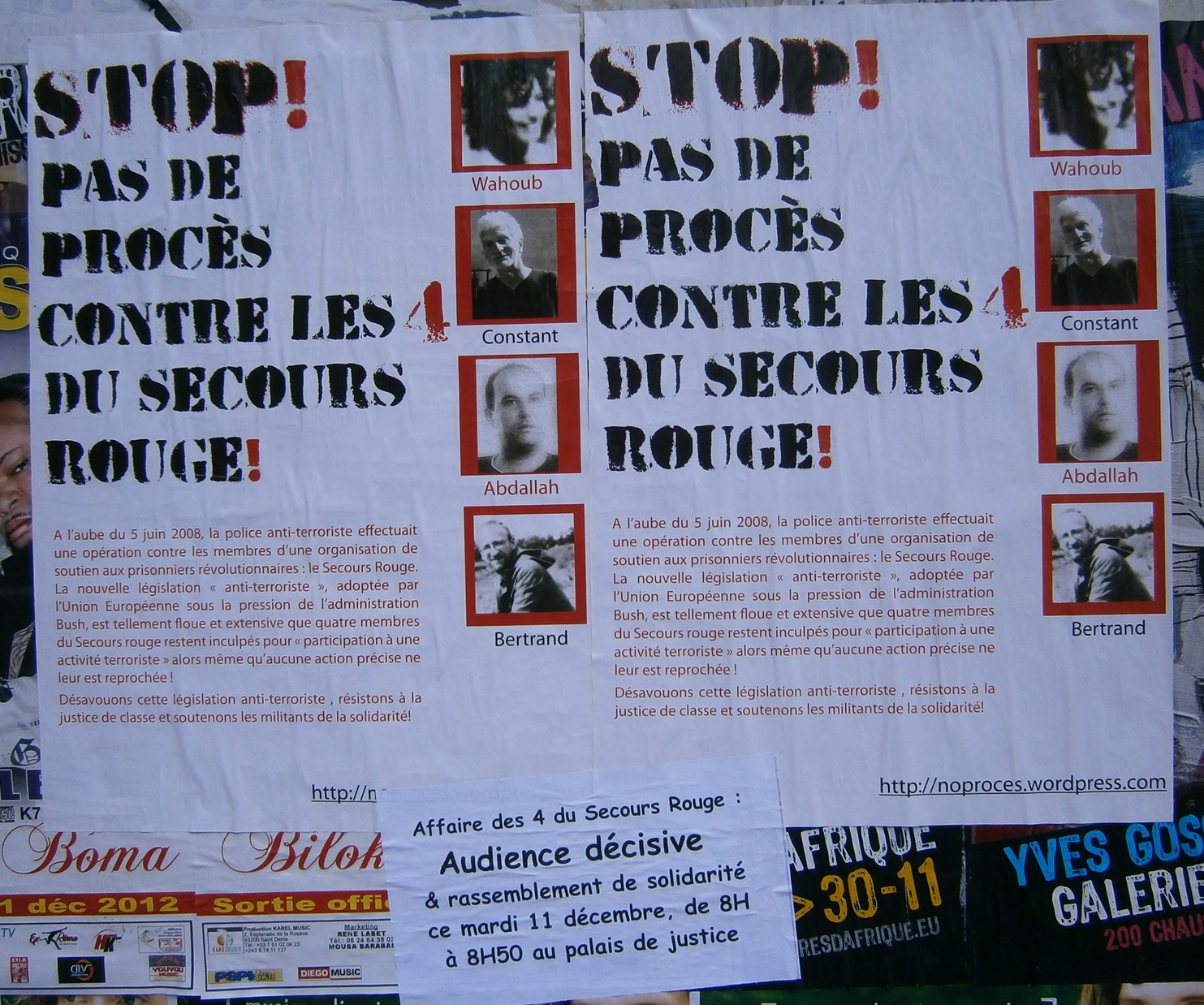 Affichage solidaire