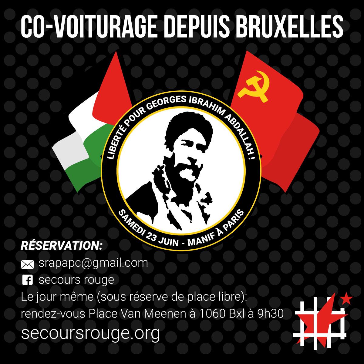 Co-voiturage pour la manifestation du 23 juin