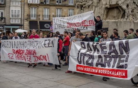 Un des rassemblements de solidarité le jour même des arrestations