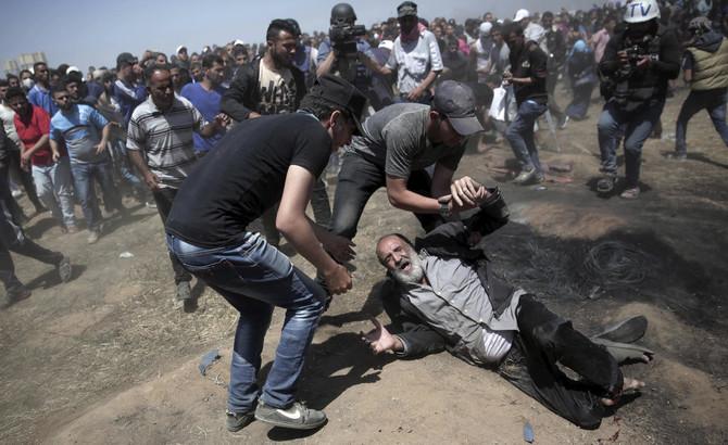 Manifestant blessé à Gaza