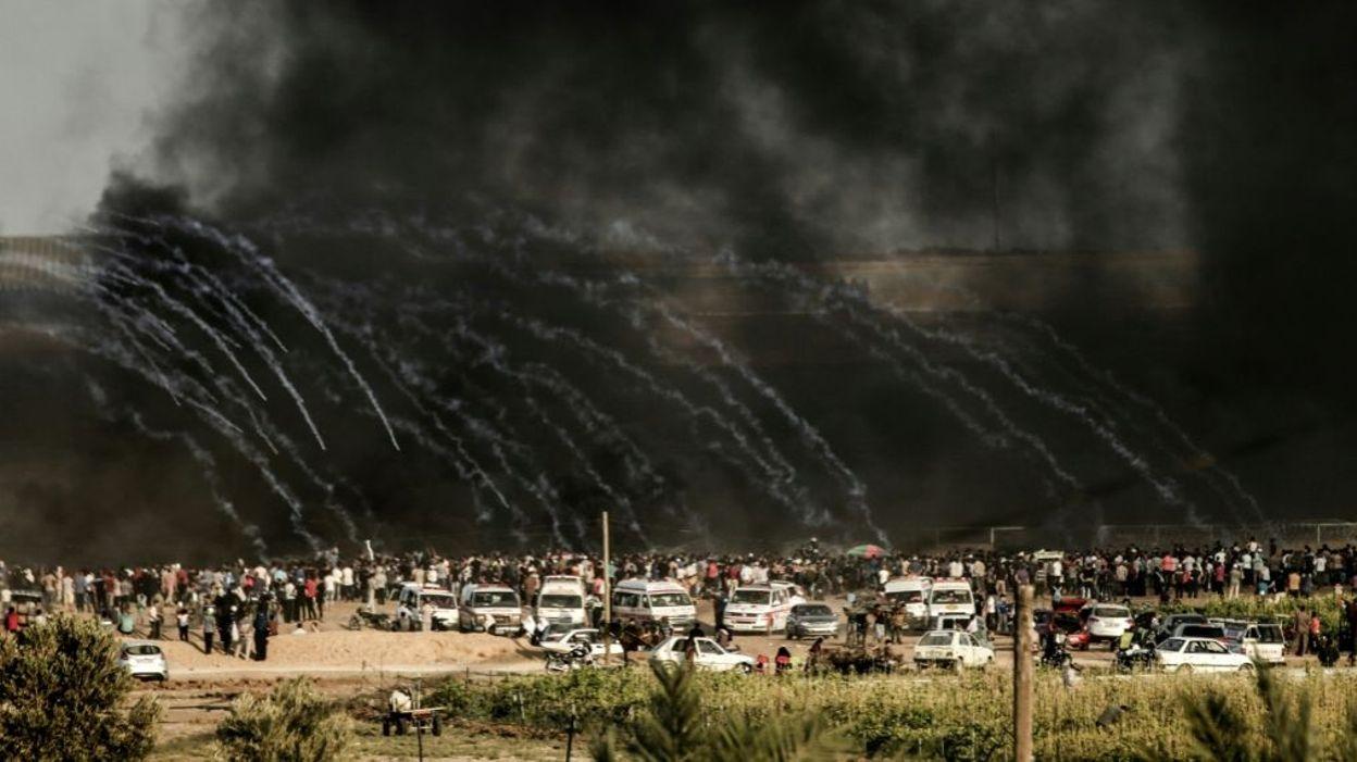 A la frontière de Gaza vendredi