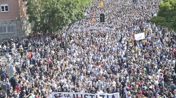 La manifestation de samedi à Irun