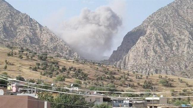 Bombardement turc à Qandil