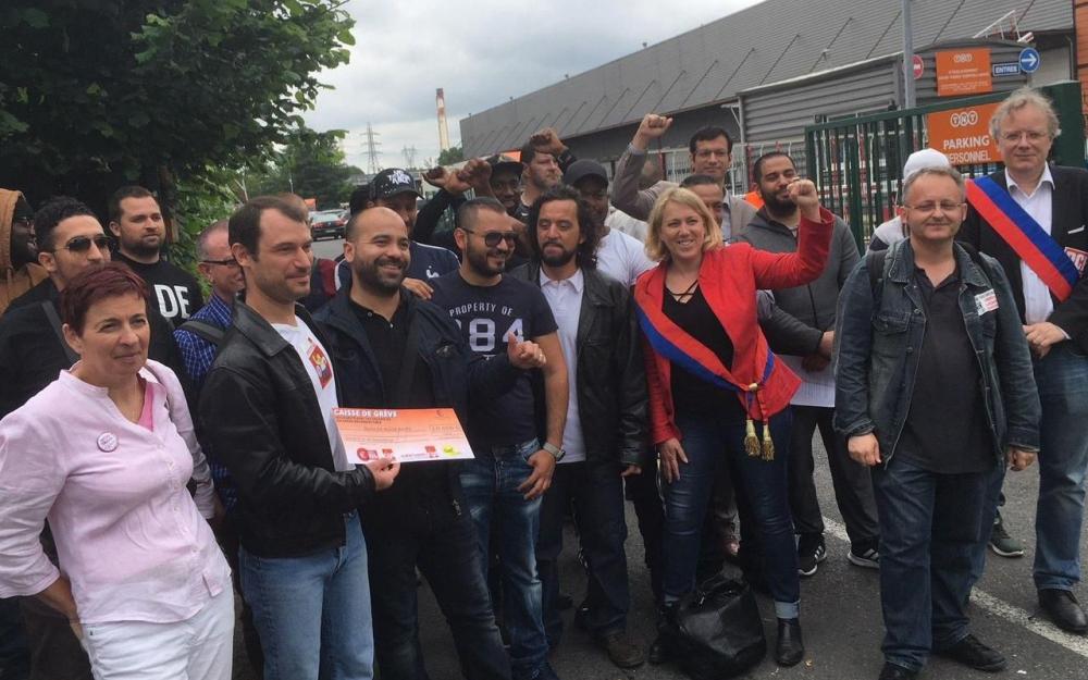 Rassemblement des grévistes vendredi à Alfortville
