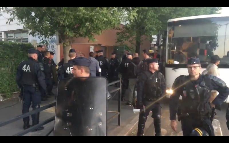 Expulsion des réfugiés qui occupaient l'Université Paris VIII