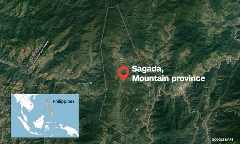 La région de Sagada, dans la province de Mountain, île de Luzon