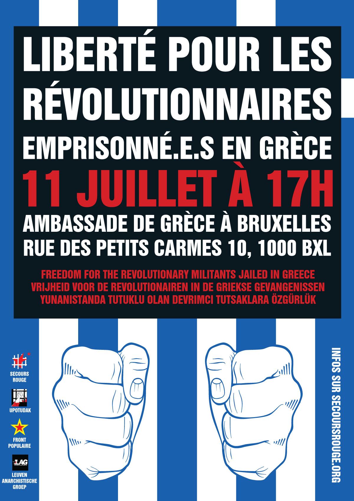 Liberté pour les révolutionnaires emprisonné.e.s en Grèce!