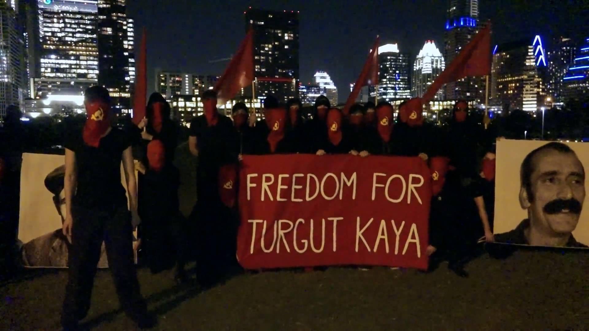 Solidarité avec Turgut Kaya depuis Austin (Texas).