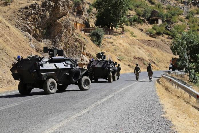 Forces de sécurité turques au Kurdistan