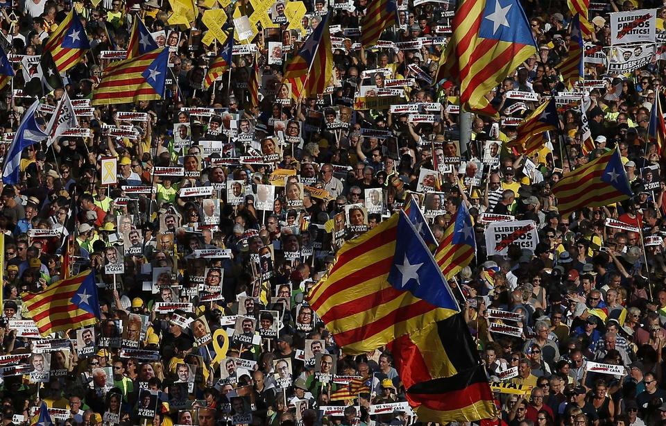 La manifestation de samedi à Barcelone