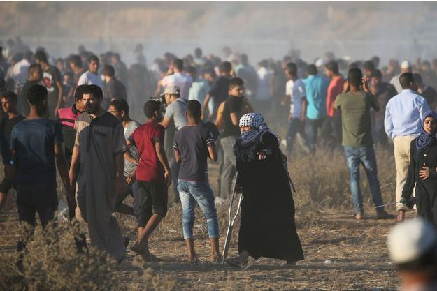 Une manifestation à la frontière de Gaza (archive)