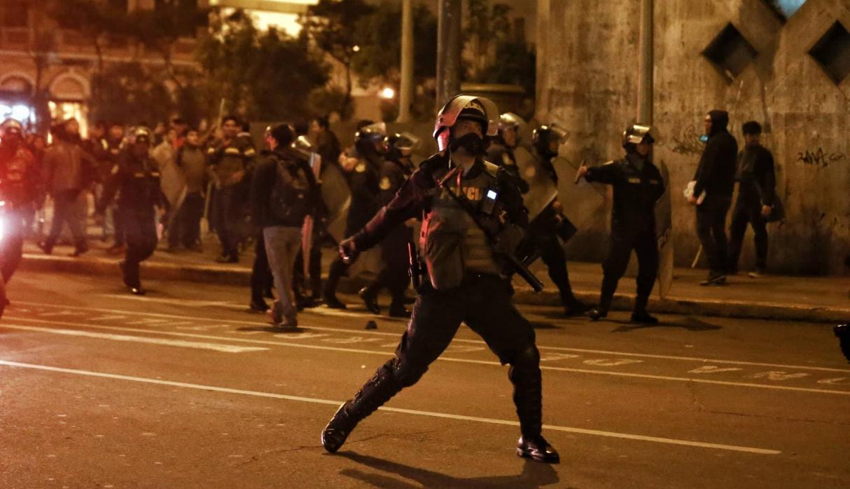 Les affrontements à Lima