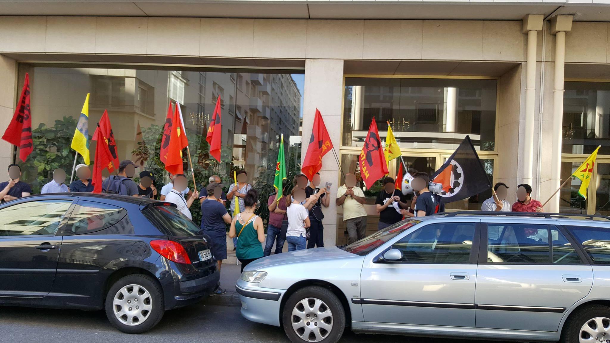 Rassemblement à Lyon pour Turgut Kaya et Hidi Gönek
