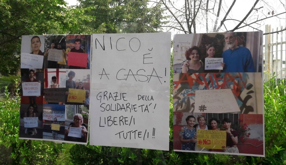 Nicolo est à la maison, merci pour la solidarité, liberté pour tou.te.s