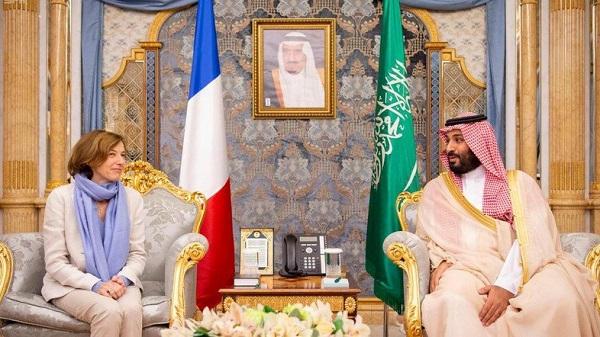 La ministre française et le prince héritier