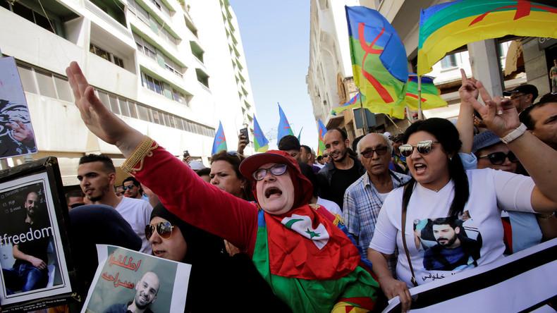 La manifestation de dimanche à Rabat