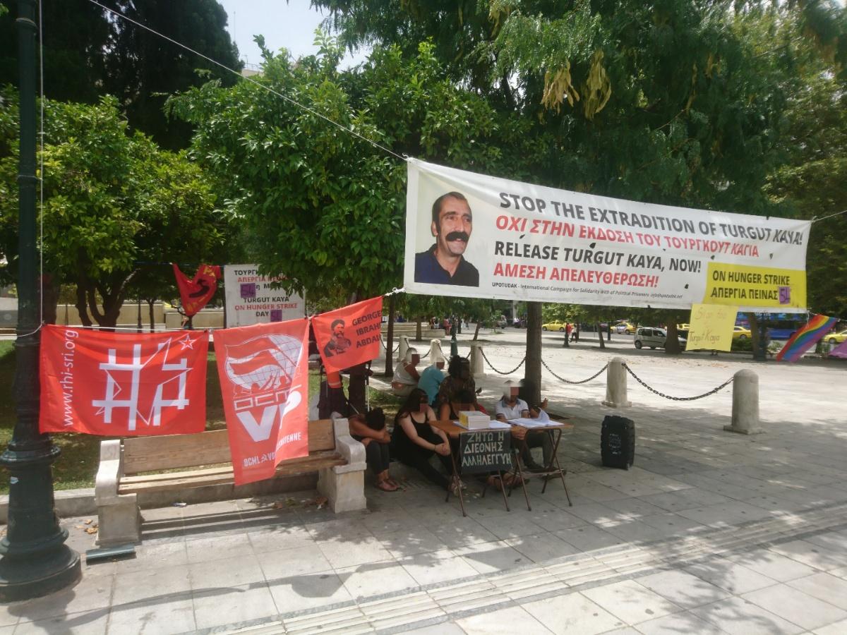 Calicot pour la libération de Turgut Kaya à Athènes