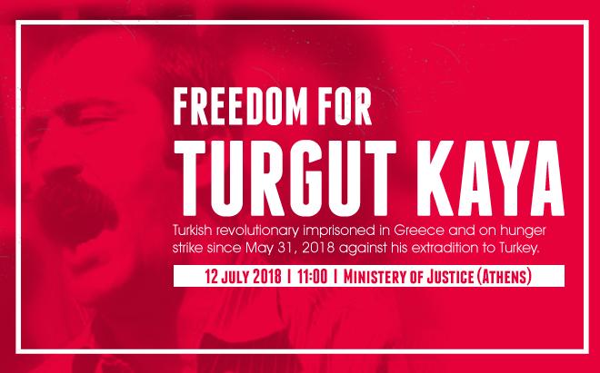 Rassemblement à Athènes pour Turgut Kaya