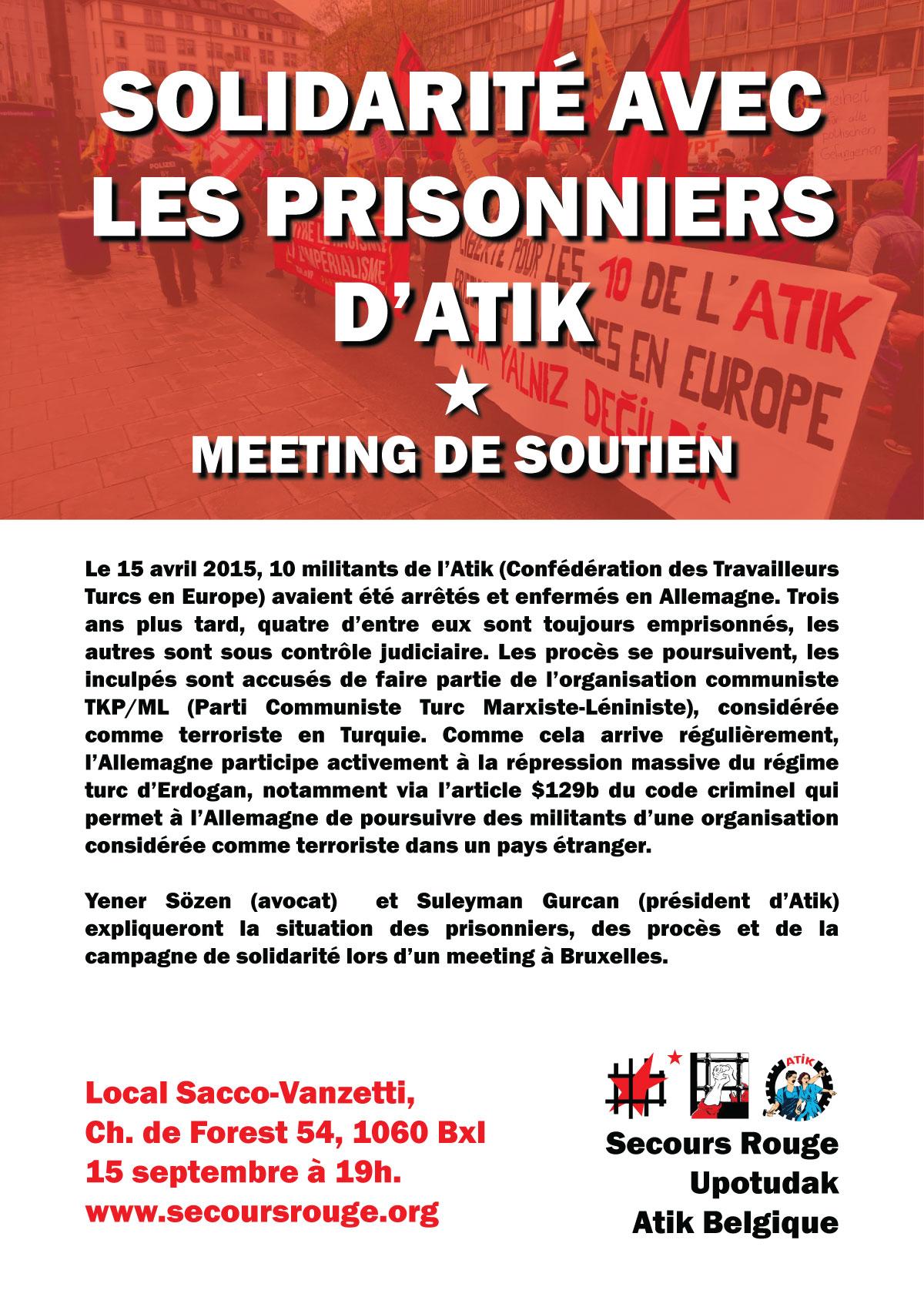 Meeting de soutien aux prisonniers d'Atik