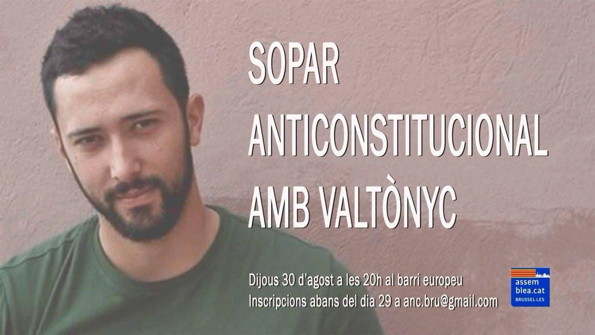 Souper anticonstitutionnel avec Valtonyc
