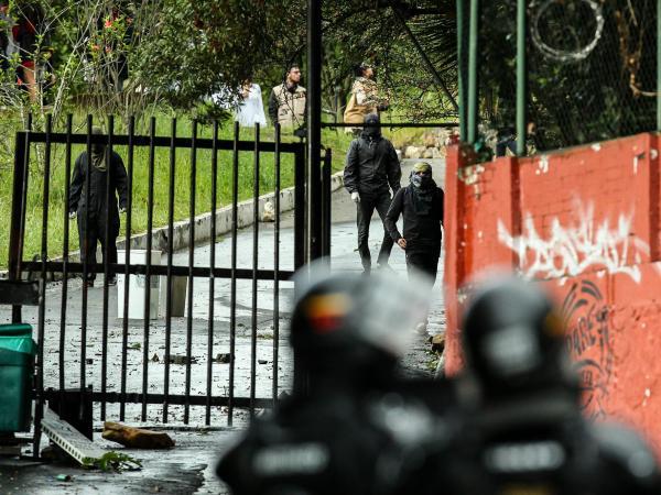 Les affrontements à Bogota