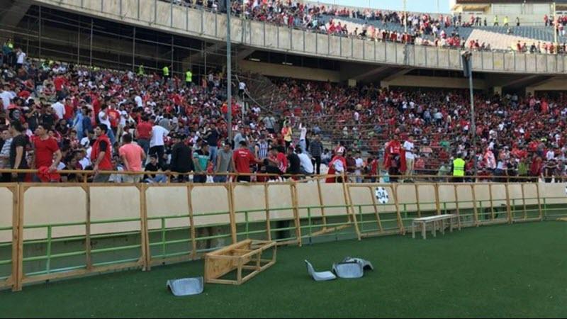 Le stade Azadi de téhéran lors des incidents