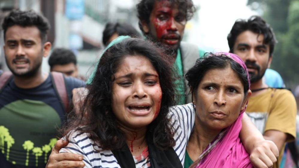 Manifestant.e.s blessé.e.s à Dacca