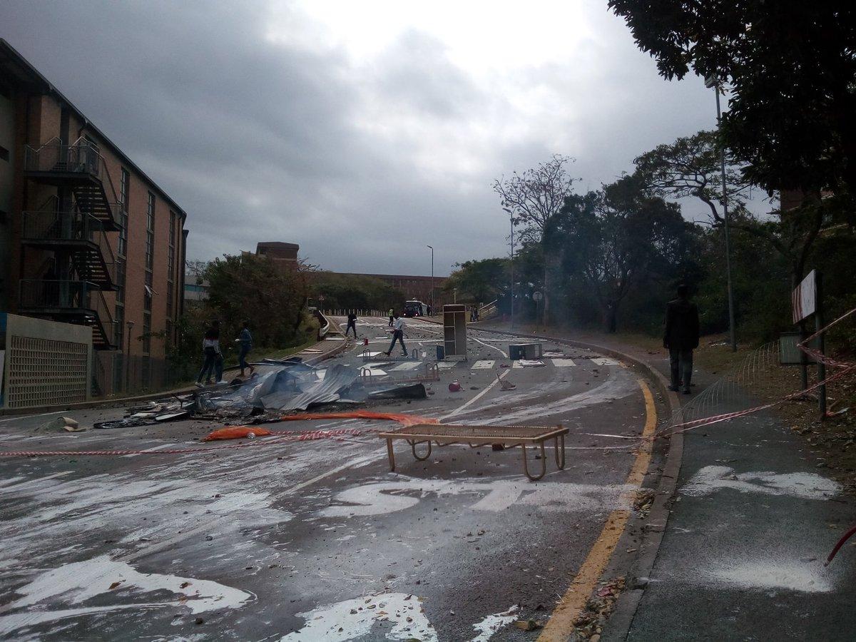 Le campus après les affrontements