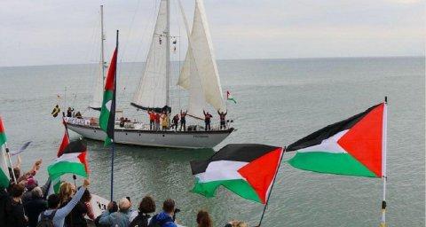 Le Freedom à son départ pour Gaza
