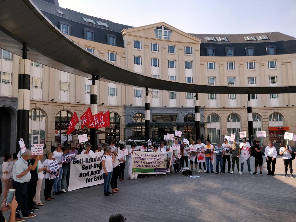Rassemblement à Bruxelles en solidarité avec Shengal