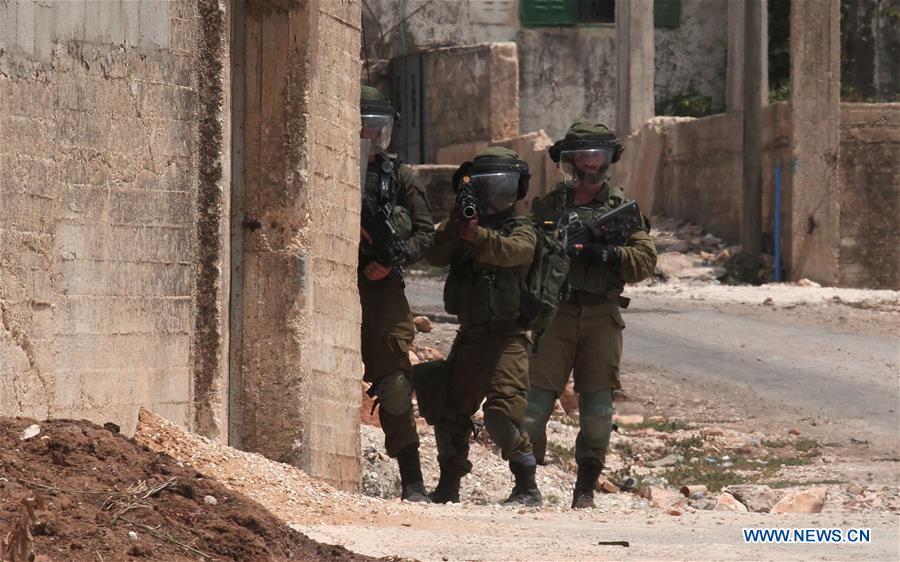 L'armée d'occupation lors des affrontements à Naplouse