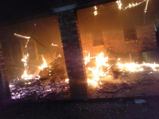 L'incendie du bâtiment