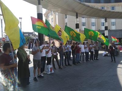 Rassemblement de soutien aux kurdes d'Iran (4 août 2018)