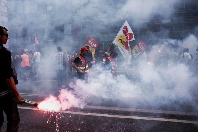 Manifestation de grévistes à la SNCF (archive)