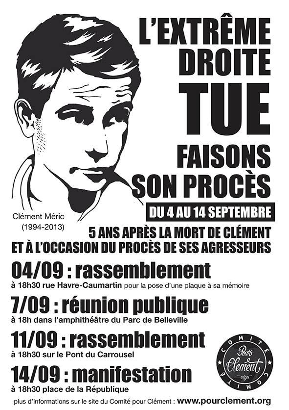 Programme des activités du Comité pour Clément