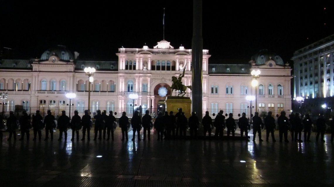 Le déploiement policier à Buenos Aires