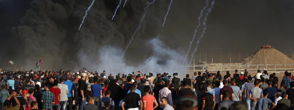 A la frontière de Gaza, hier vendredi