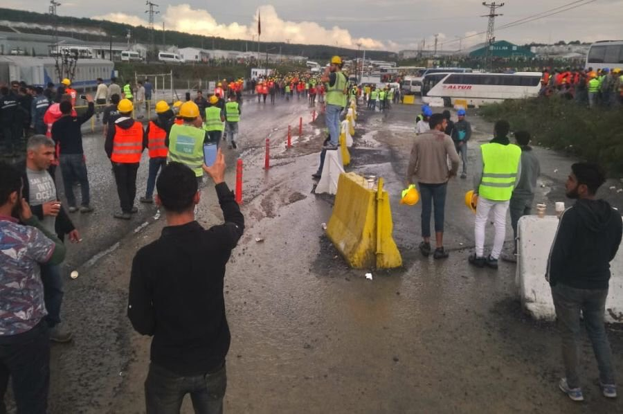 Grève sur le chantier du nouvel aéroport d'Istanbul