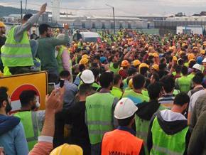 Grève sur le chantier de l'aéroport d'Istanbul
