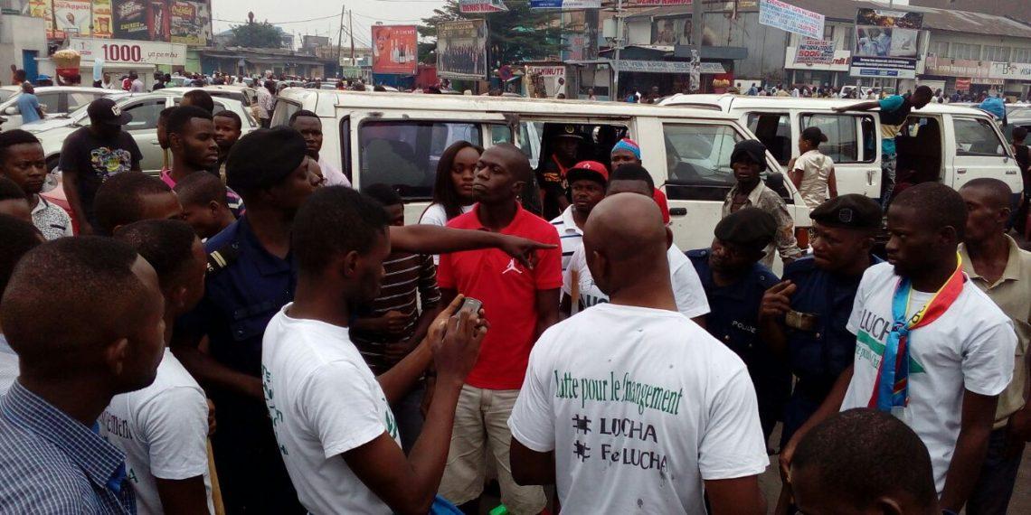 Manifestants du mouvement LUCHA interpellés par la police