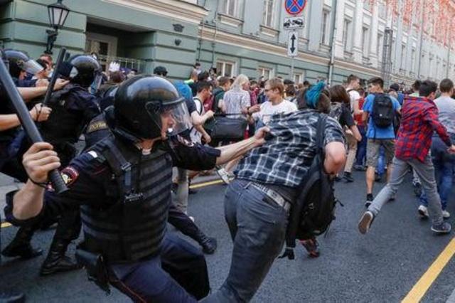 La répression hier à Moscou