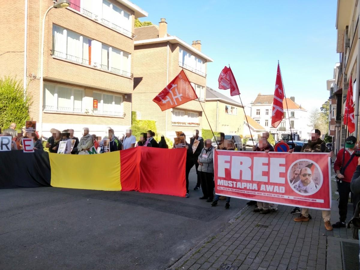 Solidarité à Bruxelles avec Mustapha Awad.
