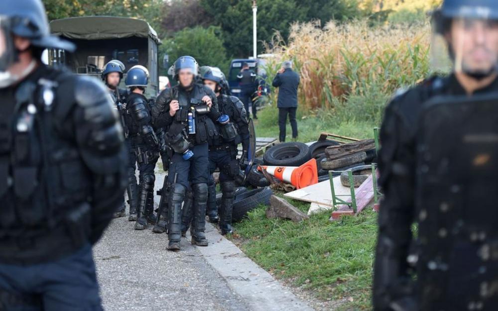 Déploiement des gendarmes à Dingsheim